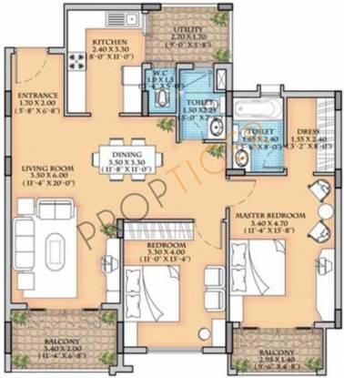 Parkway Tivoli (2BHK+2T (1,370 sq ft) Apartment 1370 sq ft)