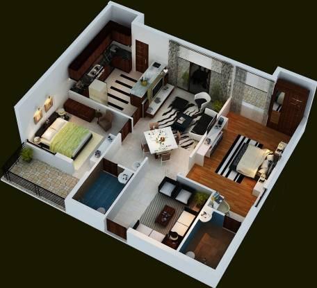 Fortuna Center Park (2BHK+2T (1,100 sq ft) Apartment 1100 sq ft)