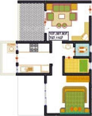 Mittal Sun Universe (1BHK+1T (600 sq ft) Apartment 600 sq ft)