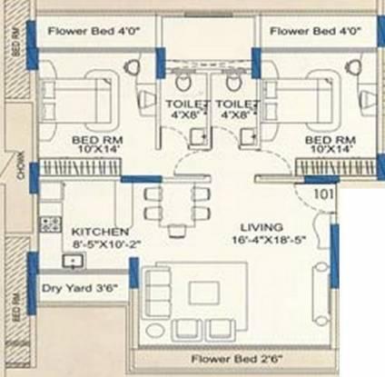 RNA RNA Sapphire (2BHK+2T (1,320 sq ft) Apartment 1320 sq ft)
