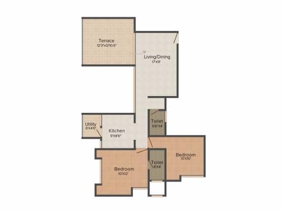 Bhujbal Vatika Homes (2BHK+2T (1,088 sq ft) Apartment 1088 sq ft)