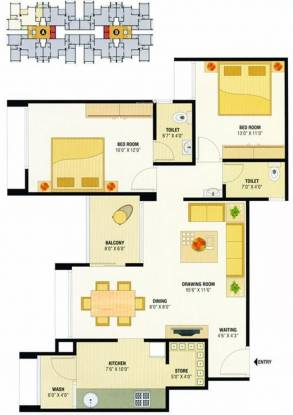 Devnandan Devnandan Sky (2BHK+2T (900 sq ft) Apartment 900 sq ft)