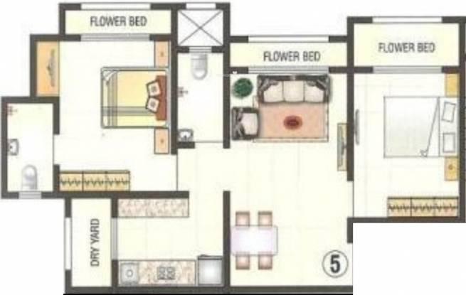 Empire Sam Residency (2BHK+2T (960 sq ft) Apartment 960 sq ft)