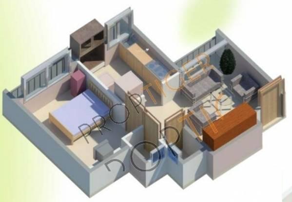 Haware Haware Citi (1BHK+1T (664 sq ft) Apartment 664 sq ft)