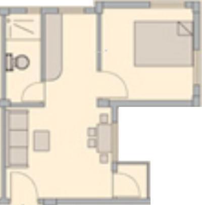 Bengal Peerless Anahita (1BHK+1T (440 sq ft) Apartment 440 sq ft)