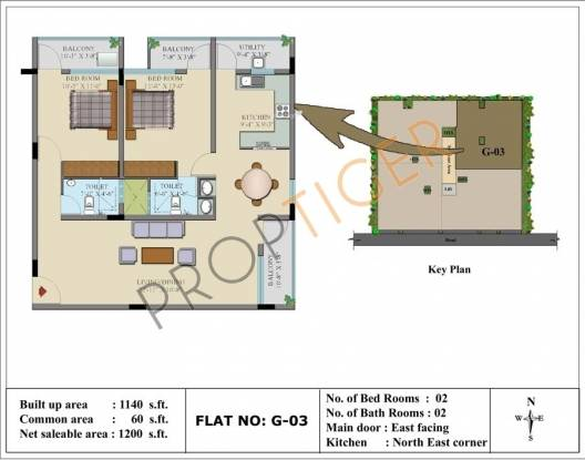 Insight Dwaraka (2BHK+2T (1,200 sq ft) Apartment 1200 sq ft)