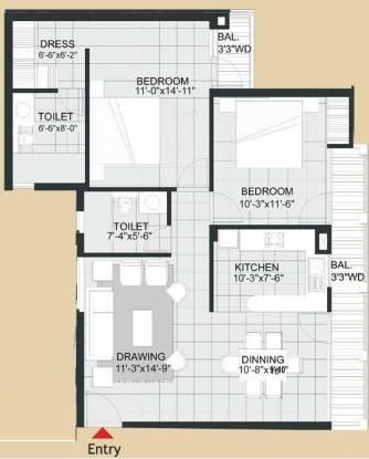 Agarwal Aditya Royal Crescent (2BHK+2T (1,270 sq ft) Apartment 1270 sq ft)