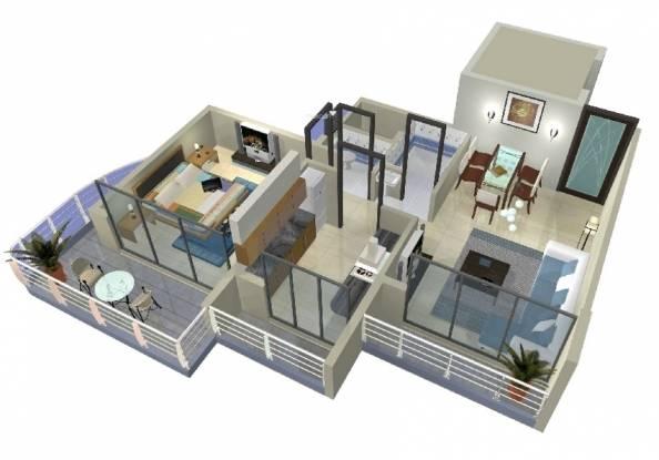 Siddharth Geetanjali Heights (1BHK+1T (750 sq ft) Apartment 750 sq ft)