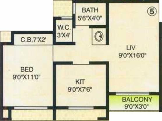 Surya Goyal Arcade (1BHK+1T (630 sq ft) Apartment 630 sq ft)