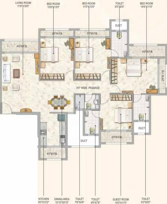 Concrete Sai Srishti (4BHK+4T (2,350 sq ft) Apartment 2350 sq ft)