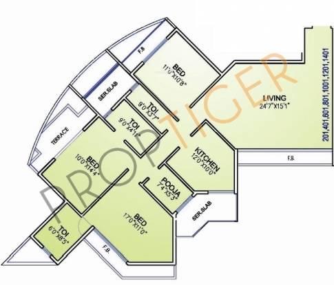 Arihant Sparsh Arihant Sparsh (3BHK+3T   Pooja Room)