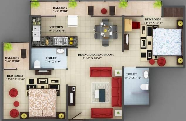 VXL French Arcade (2BHK+2T (1,030 sq ft) Apartment 1030 sq ft)