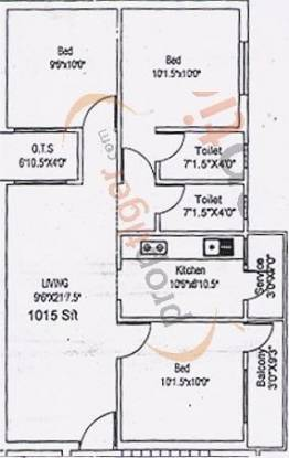 Chandrasekar Choolaimedu (3BHK+2T (1,015 sq ft) Apartment 1015 sq ft)