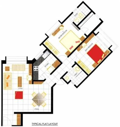 Oberoi Oberoi Park View (2BHK+2T (1,080 sq ft) Apartment 1080 sq ft)