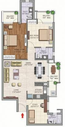 Corona Gracieux (2BHK+2T (1,550 sq ft) + Study Room Apartment 1550 sq ft)
