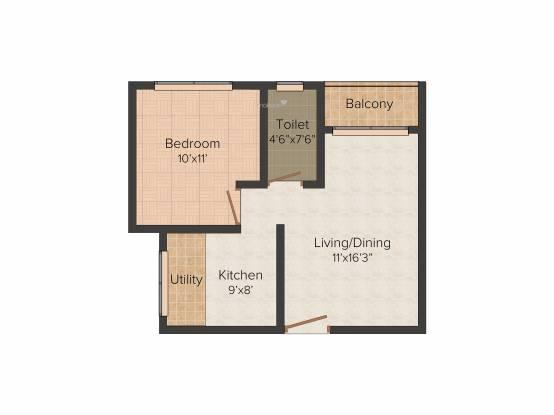 Jupiter Commanders Glory (1BHK+1T (550 sq ft) Apartment 550 sq ft)
