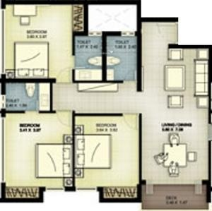 Landmark Timberton (3BHK+3T (1,515 sq ft) Apartment 1515 sq ft)