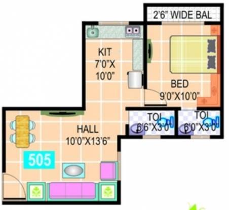 Dharti Park (1BHK+2T (505 sq ft) Apartment 505 sq ft)