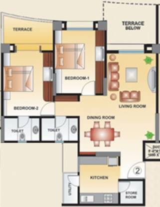Kool Homes Arena (2BHK+2T (1,250 sq ft) Apartment 1250 sq ft)