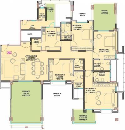 Rachana Polaris (4BHK+5T (3,500 sq ft) + Servant Room Apartment 3500 sq ft)