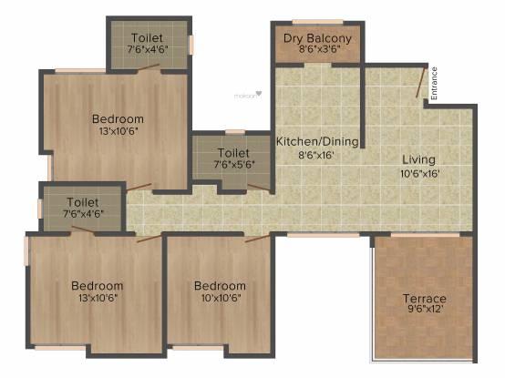 Rachana Bella Casa (3BHK+3T (1,426 sq ft) Apartment 1426 sq ft)