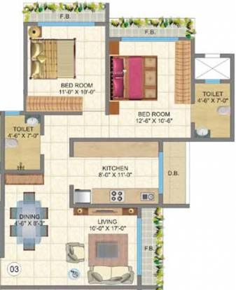 Chheda New Gagangiri (2BHK+2T (1,125 sq ft) Apartment 1125 sq ft)