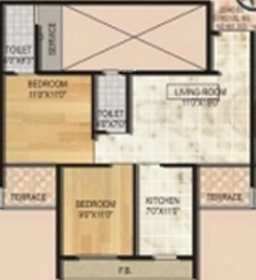 Monarch Luxuria (2BHK+2T (1,025 sq ft) Apartment 1025 sq ft)