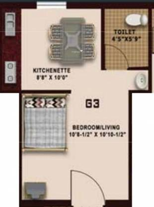 Nathans Templeton (1BHK+1T (300 sq ft) Apartment 300 sq ft)