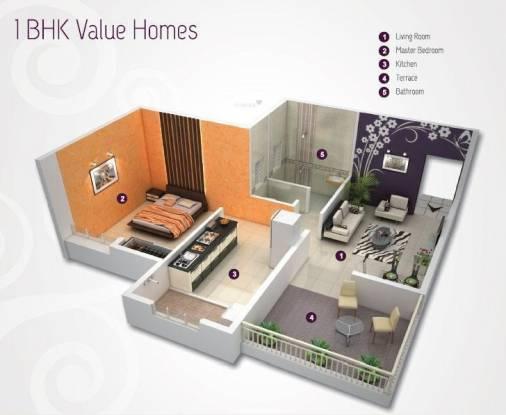 Pristine Classique (1BHK+1T (529 sq ft) Apartment 529 sq ft)