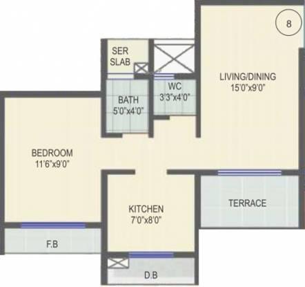 Gami Amar Harmony (1BHK+1T (738 sq ft) Apartment 738 sq ft)