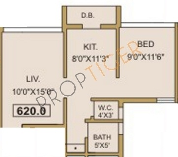 Baria M Baria Grace (1BHK+1T (620 sq ft) Apartment 620 sq ft)