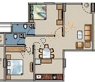 Baria M Baria Estate (2BHK+2T (1,100 sq ft) Apartment 1100 sq ft)