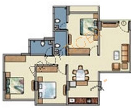 Baria M Baria Estate (3BHK+3T (1,475 sq ft) Apartment 1475 sq ft)