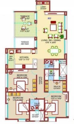 Nirmiti Fili Villa (3BHK+3T (2,162 sq ft) Apartment 2162 sq ft)