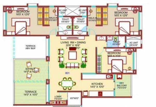 Nirmiti Fili Villa (3BHK+3T (2,462 sq ft) Apartment 2462 sq ft)