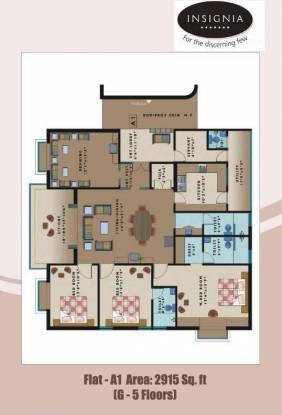 Dhaatri Hilltop (3BHK+3T (2,915 sq ft)   Servant Room Apartment 2915 sq ft)