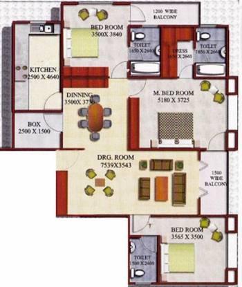 Godawari Agrasen Heights (3BHK+3T (1,650 sq ft) Apartment 1650 sq ft)