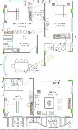 Gold Cedars (3BHK+3T (1,350 sq ft) Apartment 1350 sq ft)