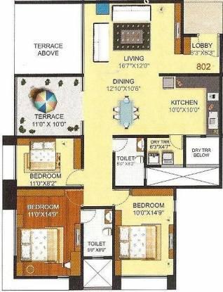 Pashankar Yin Yang (3BHK+3T (1,443 sq ft) Apartment 1443 sq ft)