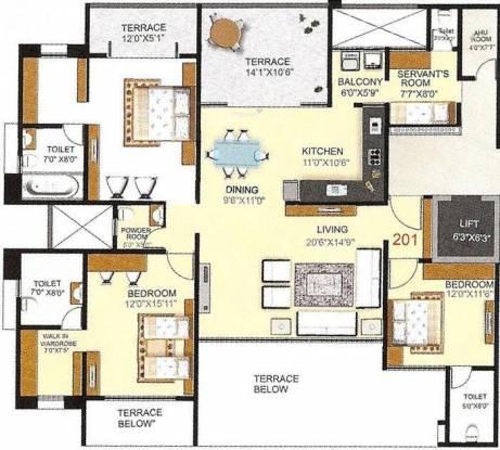 Pashankar Yin Yang (3BHK+4T (2,145 sq ft) Apartment 2145 sq ft)