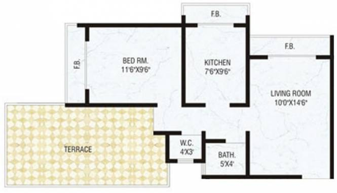 Today Galaxy (1BHK+1T (600 sq ft) Apartment 600 sq ft)
