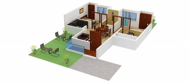 Adel Green World (2BHK+2T (850 sq ft) Apartment 850 sq ft)