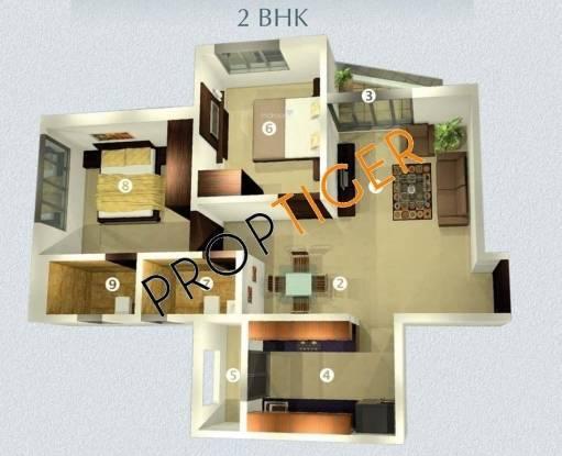 Raj Raj Horizon (2BHK+2T (890 sq ft) + Study Room Apartment 890 sq ft)