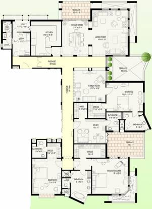 Jaypee Earth Court (3BHK+4T (3,999 sq ft)   Study Room Apartment 3999 sq ft)