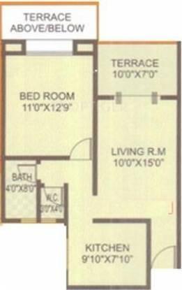 Vaishnavi Sahil Heights (1BHK+1T (689 sq ft) Apartment 689 sq ft)
