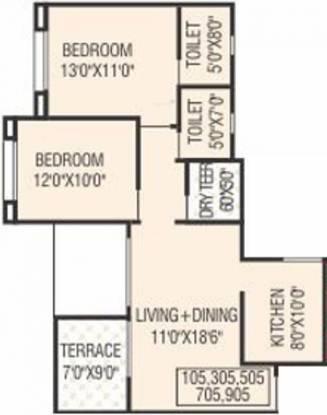 Sankalp Shree Vitthal Heritage (2BHK+2T (921 sq ft) Apartment 921 sq ft)