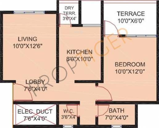 Sankalp Shree Vitthal Heritage (1BHK+1T (604 sq ft) Apartment 604 sq ft)