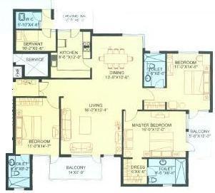 Aez Aloha (3BHK+3T (2,491 sq ft) Apartment 2491 sq ft)