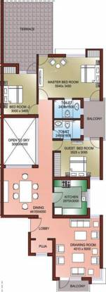 Ansal Palm Floors (3BHK+2T (1,887 sq ft) Apartment 1887 sq ft)