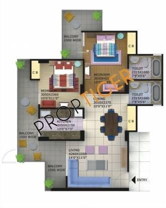 Shri Balaji Hitech Foster Heights (2BHK+2T (1,200 sq ft) Apartment 1200 sq ft)